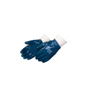 Liberty Glove Blue Nitrile Palm Coated-Chemical resistant
